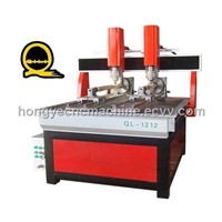 Multi-Head CNC Router with Rotary (QL-1212 Rotary)