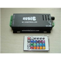 New arrival,Wireless RGB controller for led strip, Music RGB LED Audio IR Remote Controller