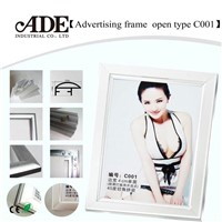 Open type C001 of advertising frame