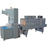 PE film automatic heat shrinking packaging machine