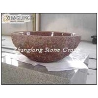 Red stone solid sinks