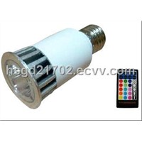 Remote control led spot light