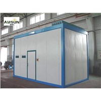 Sound insulation suspension room:sound-absorbing board