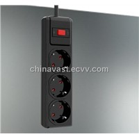 Surge Protector Power Board with Germany 3 Ways Outlet, CE and RoHS Marks