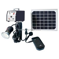 TP001 Solar Lighting System, 9V3W mono solar panel,1pcs 2W LED,for lighting and charge mobile phones