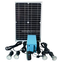 TP204 Solar Home Lighting System,20W mono solar panel,for lighting and charge mobiles