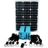 TP205 Solar Home Lighting System, 40W mono solar panel,12V25Ah lead acid battery