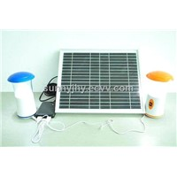 TP206 Solar Energy Saving Lamp with 2pcs LED bulb,high capacity lithium-ion battery, safe
