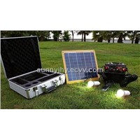 TP207 Solar power system, 12V to makes energy-saving lamp lighting, 5V  to charge digital products