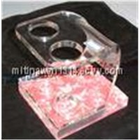 Transparent Bending Cosmetic display stand