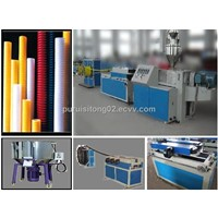 UPVC single wall corrugated pipe production line
