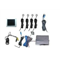 Visible Car Parking Sensor (one set) rearview video display, Reversing 4 Sensor  voice Alarm