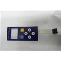 Waterproof Rubber Membrane Switch Single Sided Pressure Sensitive