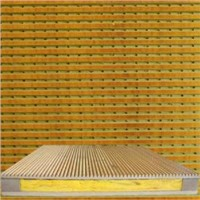 Woodiness perforation sound-absorbing board:Sound-absorbing cotton
