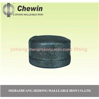 black malleable iron pipe fitting cap
