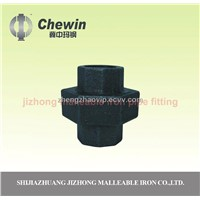 black malleable iron pipe fitting union