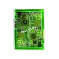 eight layer immersion gold PCB for security camers