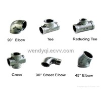 elbows, reducers, tees, conc. reducers, ecc. reducers, caps