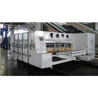 full automatic high speed printing and slotting machine