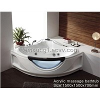 glass massage bathtub