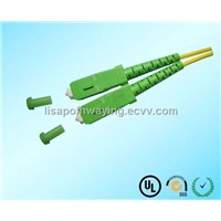 green SM Fiber Optical Patch Cord