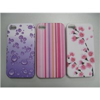 iPHONE 4G Water transfer printing+ Rubber oil
