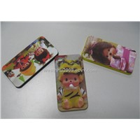 iphone4G Case water transfer printing+rubber oil+bears