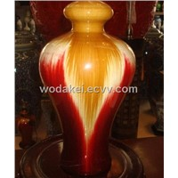 porcelain vase full color art glazing decoration