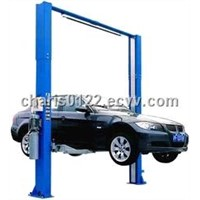 two post  clear floor  automotive lifter