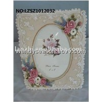 multifunctional poly resin photo frame-vigant flower