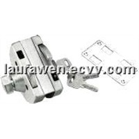 openning inside and outside single door lock for half-round HJ-666B