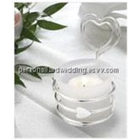 Heart-Shaped Wedding Candle Holder