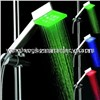 LD8008-A4 strong flow ABS plastic rainbow 7 color led rain shower head with filter net