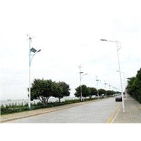 100w outdoor Solar & wind photovoltaic hybrid off grid street lighting generating system