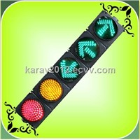 200mm Cobweb Lens Red+Yellow Ball + Green Arrow LED Traffic Light (JD200-3-55-4A)