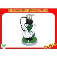 Mini Novelty Golf Pen Holder with Digital Clock Gifts