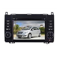 7 inch double din car DVD player with GPS for Mercedes B200