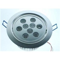 9W Aluminum alloy RGB LED recessed Downlight bulbs for Shopping mall, hotels AC 85-265V