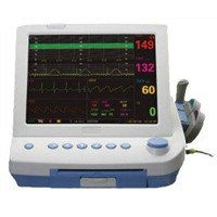 9 Parameters FHR. TOCO FM NIBP SPO2 MHR ECG RR TEMP portable maternal fetal monitor
