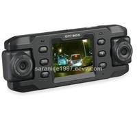 Car DVR,car black box,X8000,dual rotatable Lens with GPS Logger,G-sensor,USB/AV out