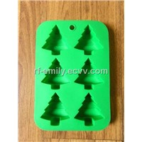 Christmas tree silicone cake mould