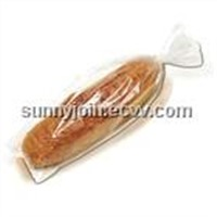 Clear or printed BOPP food grade plastic bread packaging bag
