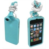 Colorful Silicon Rubber Iphone4 Protective Cases Screen Protector Cute Iphone 4 Cases