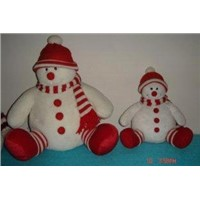 Custom Design Snowman in Red Hat Christmas Gift