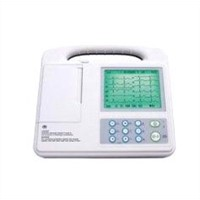 Digital portable 3 channel electrocardiography 12 lead ECG machine AC DC power