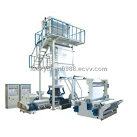 Double-layer Coextrusion Rotary Die-head Film Blowing Machine Set