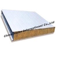 Glass wool sandwich panel for wall