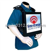 High Performance Ratio Backpack Ad Player
