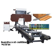 Horizontal band saw for hard wood cutting