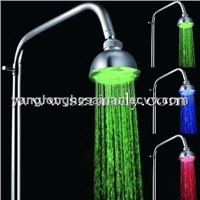 LD8010-A1 Rainfall self-powered colorful small led top shower/led overhead shower/top shower head